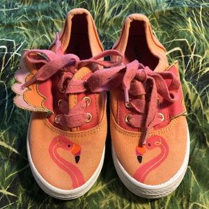 Flamingo sneakers toddler size 9